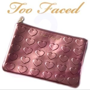 🚨NEW🚨NWOT•Too Faced•Pink Zippered Bag
